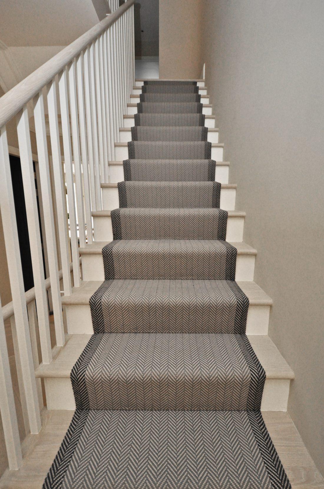 Stair Runner Carpet Grey